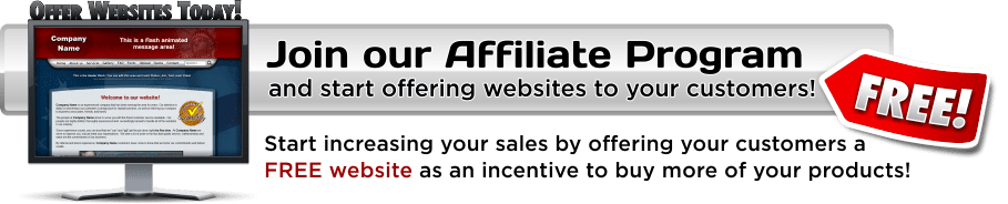 Sign Company Websites Affiliate Plan - Offer FREE Websites to Small Businesses in your area!